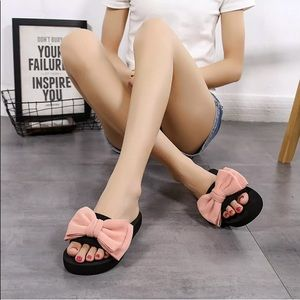 Shoes - Bow Slippers